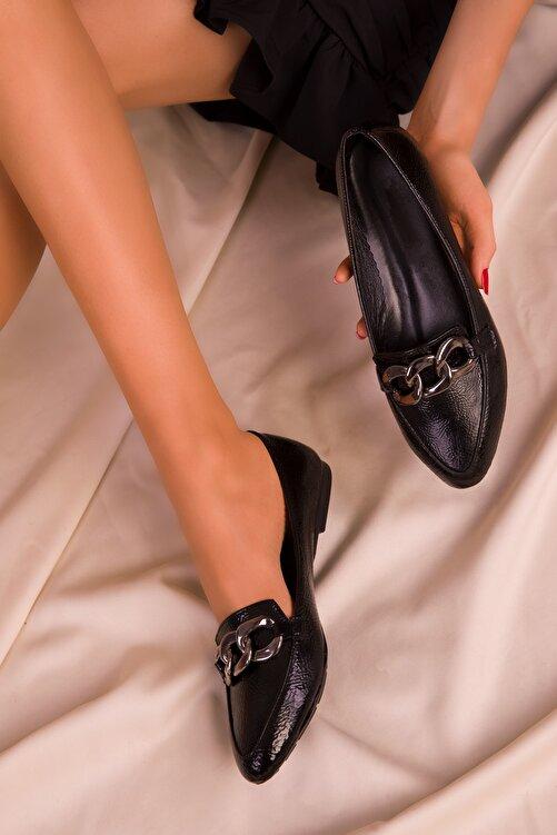 SOHO Siyah Mat Rugan Kadın Babet 15750 1