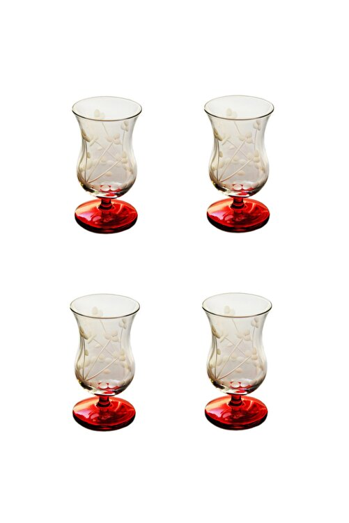 BAŞAK Papatya (Kırmızı) Gala Çay Ve Kahve Bardağı 4 Adet 2