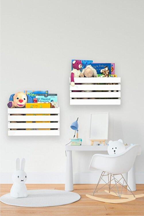 Ankaflex Ahşap Oyuncak Kutusu Montessori Ikili Oyuncak Dolabı 2