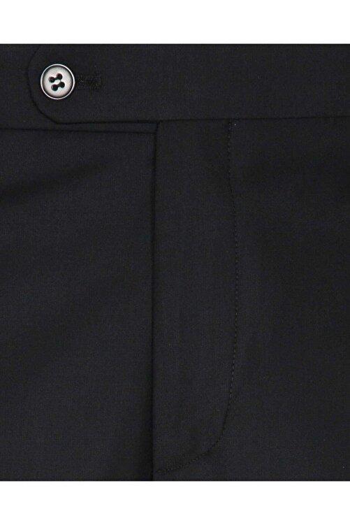 SÜVARİ Rahat Kalıp Siyah Erkek Kumaş Pantolon 2