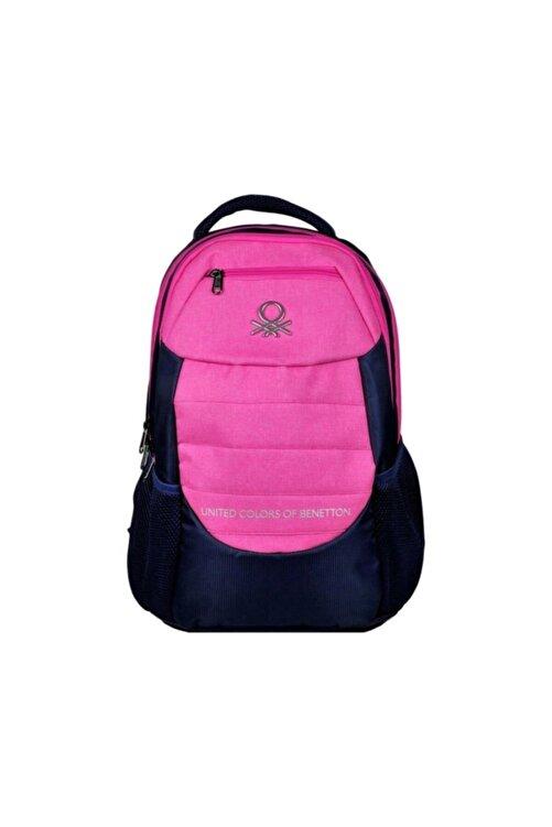 Benetton United Color Of Üç Bölmeli Lacivert/pembe Sırt-okul Çanta 95051 1