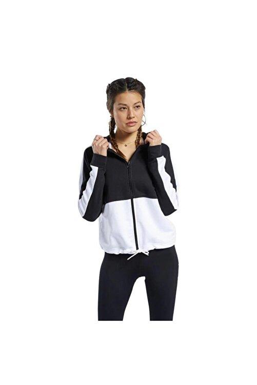 Reebok Fu2204 Te Linear Kadın Siyah Beyaz Sweat 1