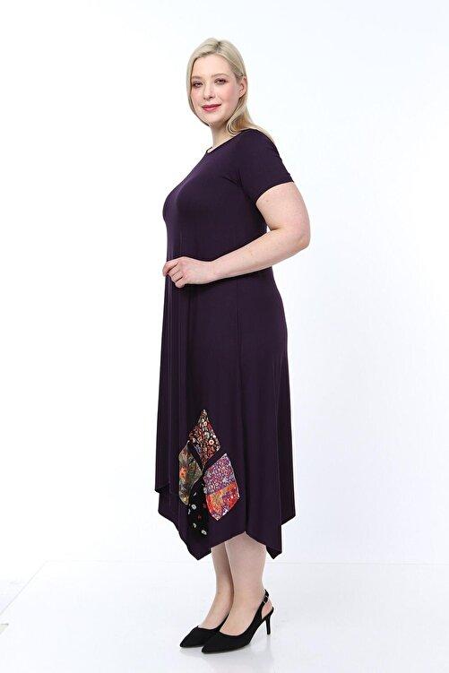 Osyoumoda Büyük Beden Asimetrik Kesim Günlük Elbise 2