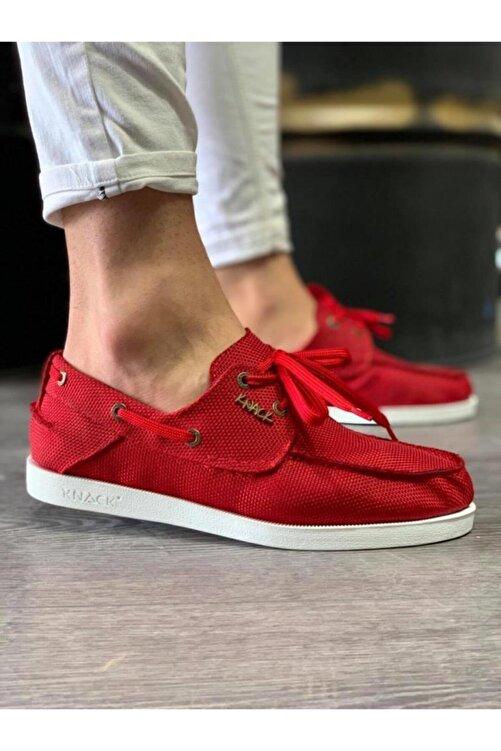 Knack Mevsimlik Keten Ayakkabı 008 Kırmızı 2