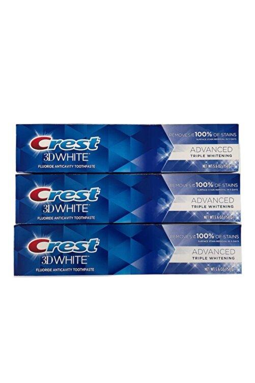 CREST 3d White Advanced Triple Whitening Diş Macunu 158 Gr X 3 Adet 1