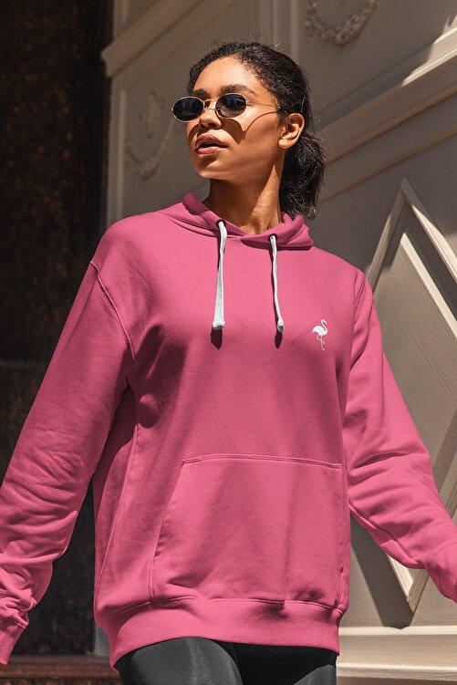 Flamingo Butik Kadın Onlyflamingo Sweatshirt Fuşya 1