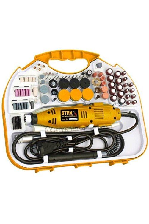 STAXX POWER 300 Parça 400 Watt 60.000 Rpm 6 Kademe Devirli Hobi Gravür Taşlama Zımpara Çantalı Set 1