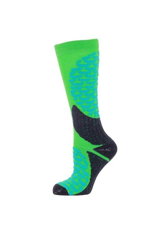 Panthzer Ski Socks Erkek Kayak Çorap Yeşil/lacivert 1