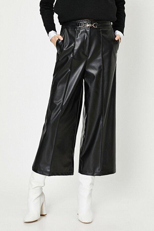Koton Kadın Siyah Deri Pantolon 0kak43885ek 1