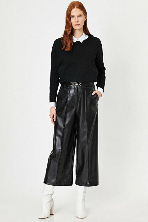 Koton Kadın Siyah Deri Pantolon 0kak43885ek 2