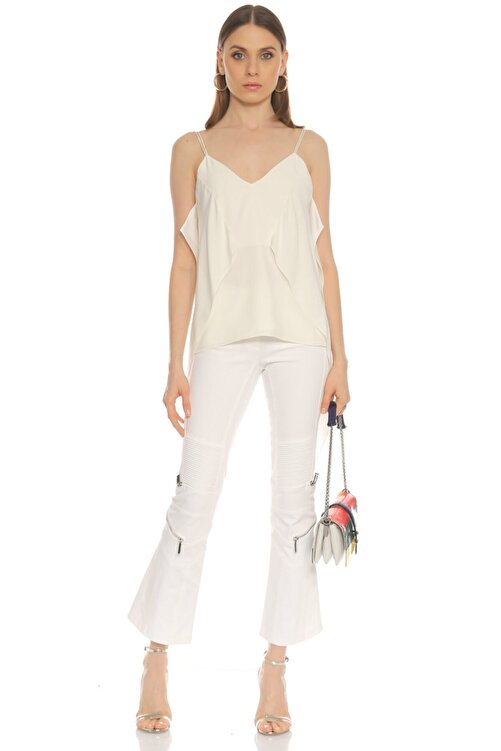 Barbara Bui Beyaz Jean Pantolon 2