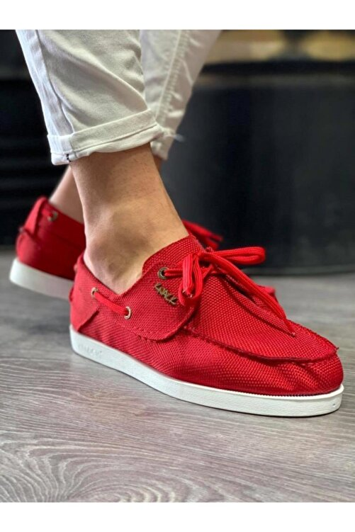 Knack Mevsimlik Keten Ayakkabı 008 Kırmızı 1