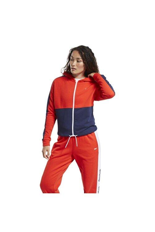 Reebok Ft0901 Te Linear Kadın Kırmızı Mavi Sweat 1