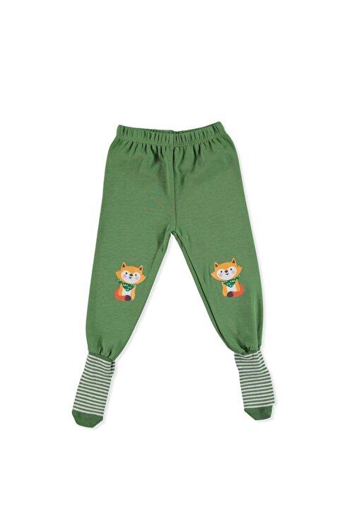 HelloBaby Erkek Bebek Yeşil 2li Çoraplı Pijama Pantolon 2