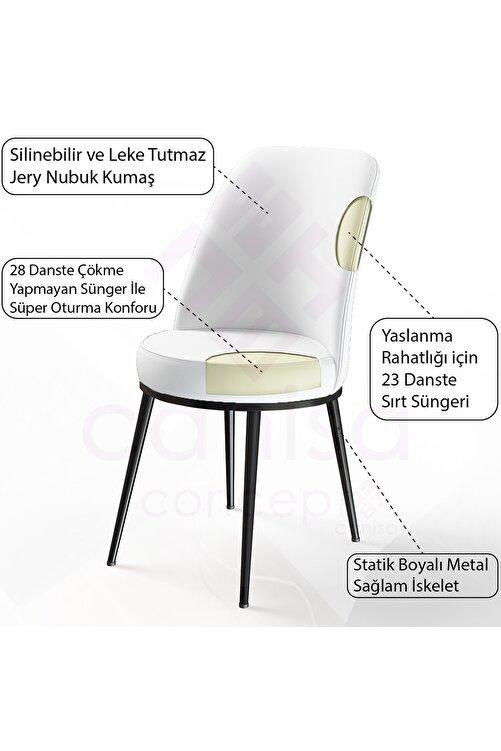Canisa Concept Dexa Serisi Kahverengi Renk Sandalye Mutfak Sandalyesi, Yemek Sandalyesi Ayaklar Siyah 2