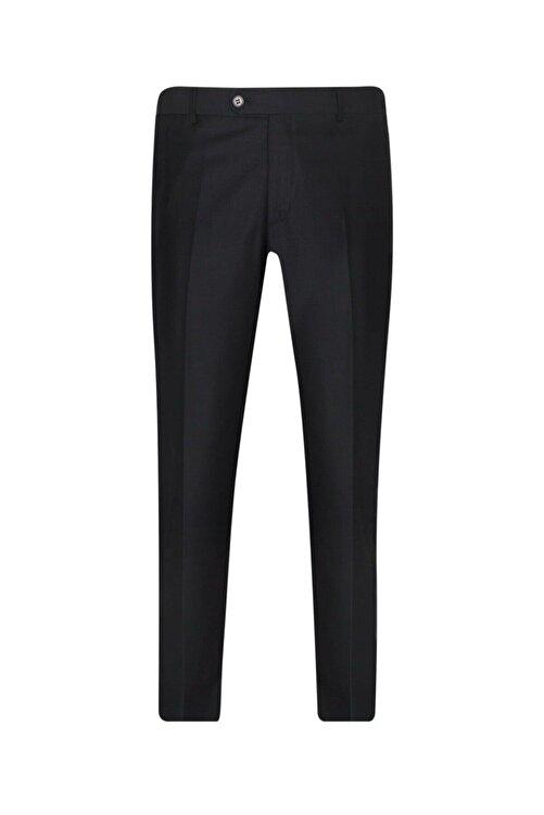SÜVARİ Rahat Kalıp Siyah Erkek Kumaş Pantolon 1