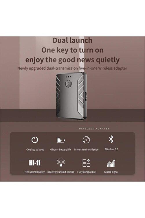 Streak Bluetooth Müzik Alıcısı 3.5 Mm Aux Araç Oto Adaptör Kiti 2