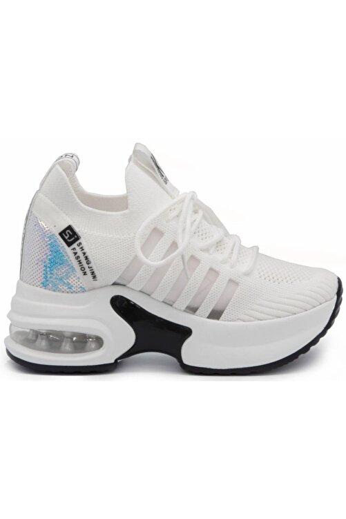 Guja 20k333-7 Yüksek Taban Gizli Topuk Kadın Spor Ayakkabı 2