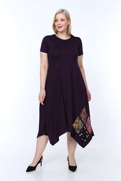 Osyoumoda Büyük Beden Asimetrik Kesim Günlük Elbise 1