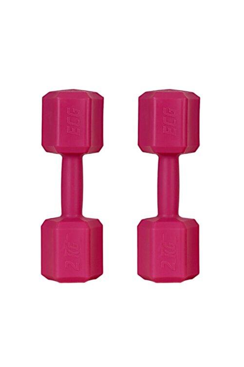 ECG Spor 2 Kg X 2 Adet 4 Kg Dambıl Seti 4 Kg Dumbell Set (Fuşya) 1