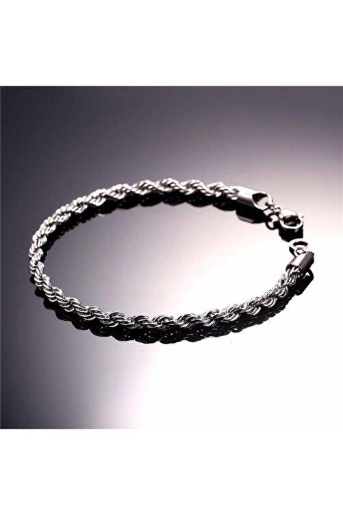 Takı Dükkanı Erkek Beyaz Halat Burgulu Çelik Bileklik Künye Nck15 1