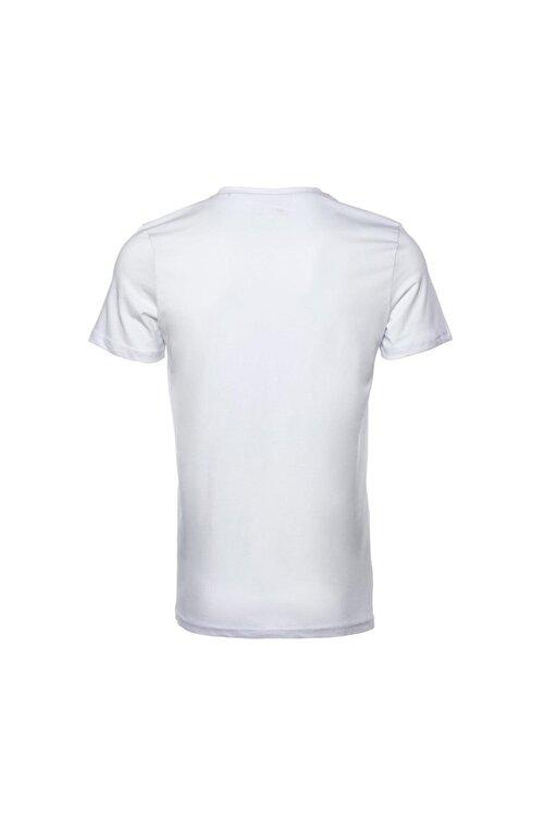 New Balance Erkek Beyaz T-shirt Mpt028-wt 2