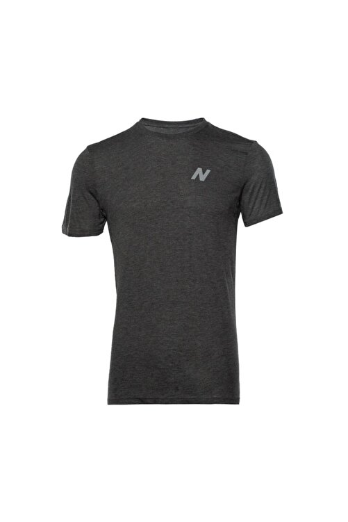 New Balance Erkek Antrasit T-shirt Mpt028-chc 1