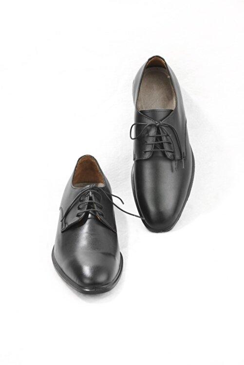 E CENGİZ Erkek Siyah   Hakiki Deri  Klasik Ayakkabı 2