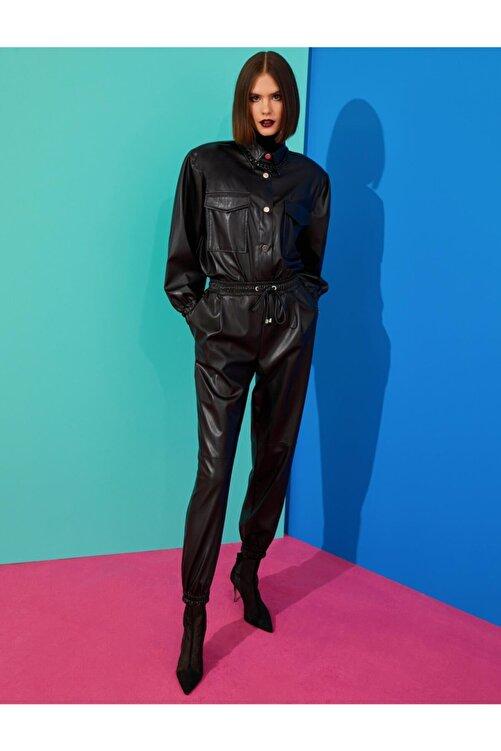 Koton Kadın Deri Görünümlü Pantolon 1