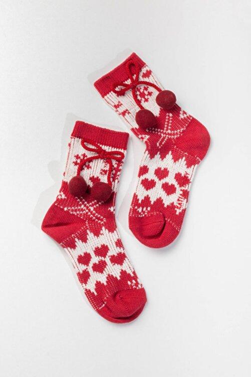 Katia&Bony Cosy Kadın Yılbaşı Çorabı - Kırmızı 1