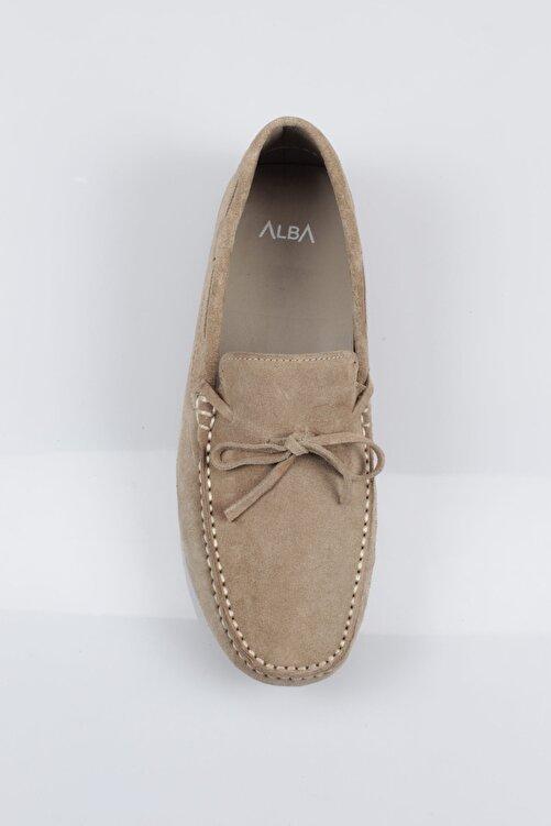 Alba Erkek Bej Hakiki Deri Loafer Ayakkabı 2
