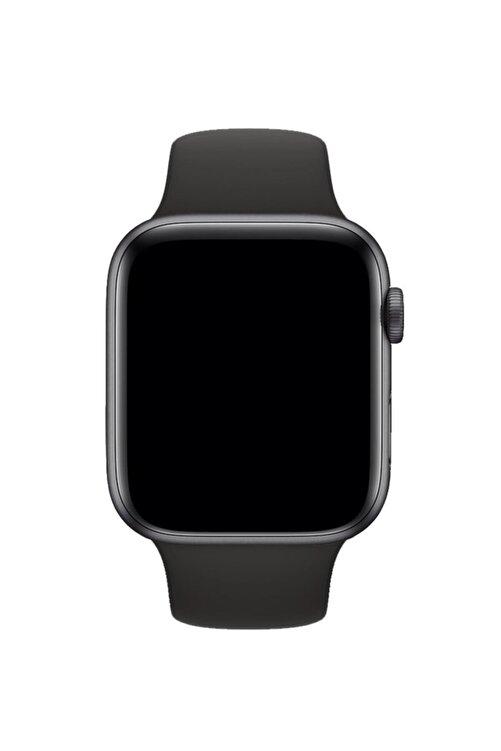 Fuchsia Apple Watch Uyumlu 38 - 40 mm S/M Ölçülerinde Siyah Spor Kordon 1