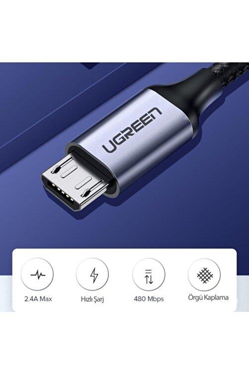 Ugreen Örgülü Micro Usb Data Ve Şarj Kablosu Siyah 1.5 Metre 2