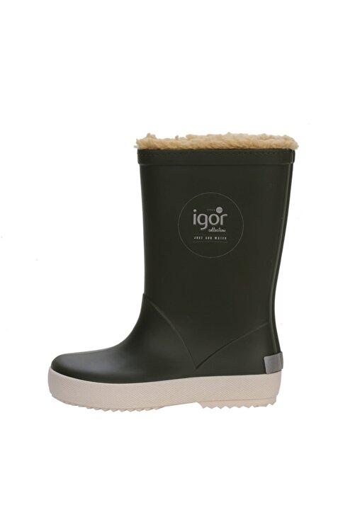 IGOR SPLASH NAUTICO BORREGUITO Haki Erkek Çocuk Yağmur Çizmesi 100518772 1