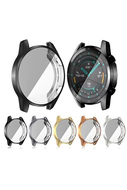 yakuppolt Huawei Watch Gt2 46mm Ekran Koruma Ultra Ince Silikon Kılıf 1