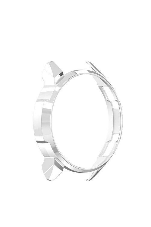 Microcase Honor Watch Gs Pro Sert Rubber Çerçeve Koruma Kılıfı - Gümüş 2