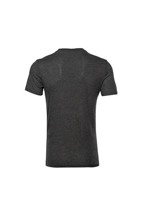 New Balance Erkek Antrasit T-shirt Mpt028-chc 2