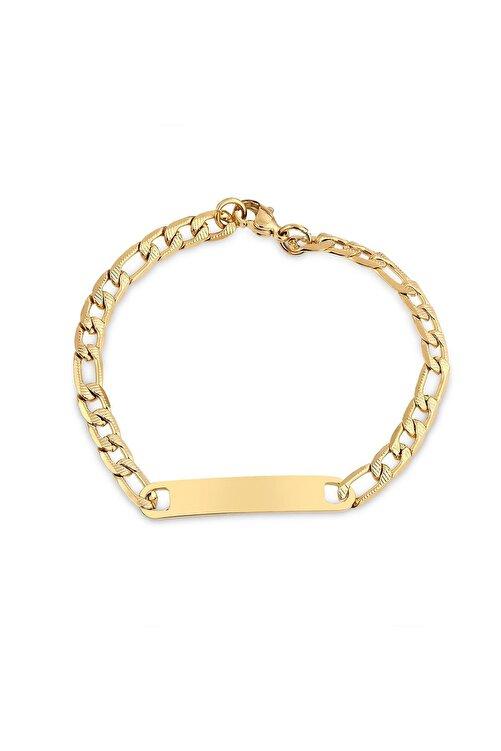 Toms Jewelry Unisex Altın Çelik Künye Tmj10800-900-g 1