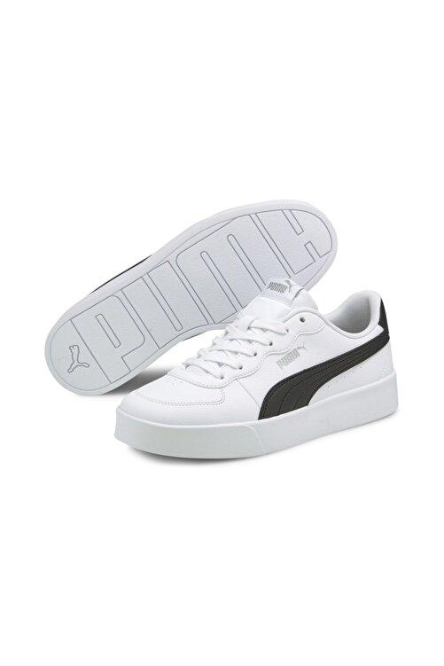 Puma Kadın Skye Clean  Spor Ayakkabı - Beyaz-siyah 2