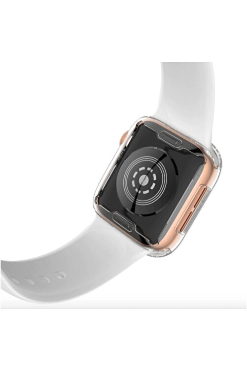 Gate Apple Watch 44 Mm Uyumlu Şeffaf Silikon Kılıf Iwatch 44mm Tam Koruma Koruyucu 2