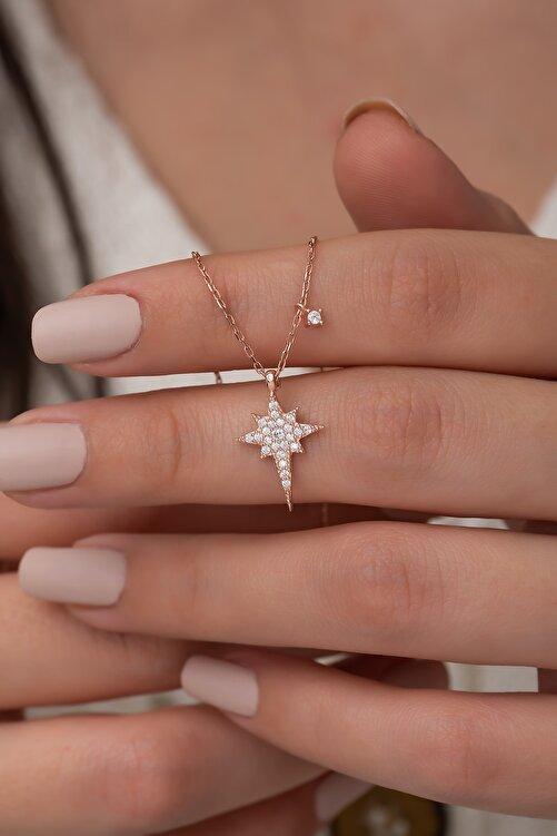Nereze 925 Ayar Minik Kutup Yıldızı Kolye Kadın Gümüş Kolye 1