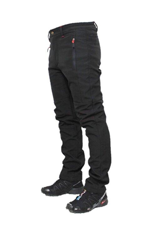 DRC Outdoor Unisex Siyah  Softshell Su Rüzgar Geçirmez Polarlı Pantolon 1