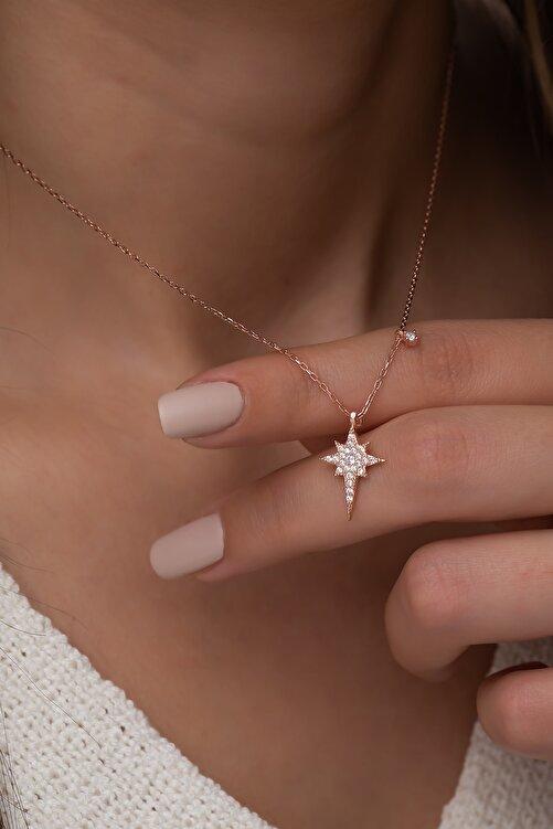 Nereze 925 Ayar Minik Kutup Yıldızı Kolye Kadın Gümüş Kolye 2