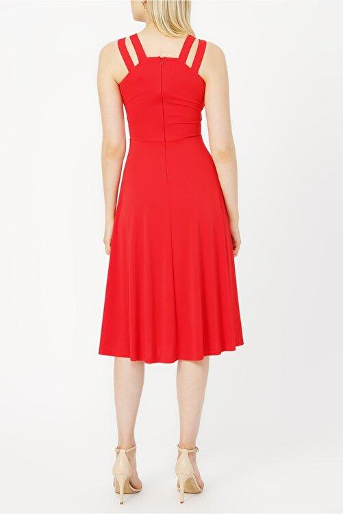 RANDOM Çift Askılı Midi Elbise %100 Polyester 2