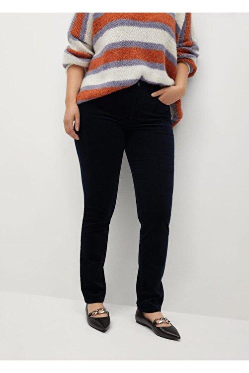 Violeta by MANGO Kadın Lacivert Pantolon 1