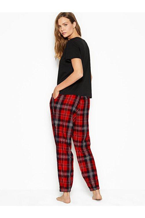 Victoria's Secret Pamuklu Flanel Pijama Takımı 2