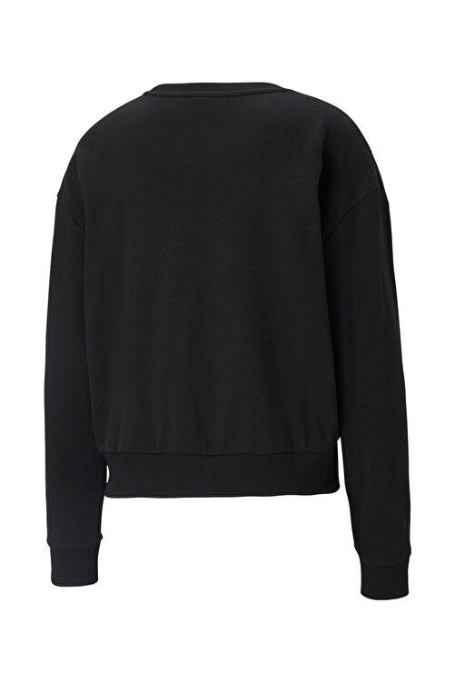 Puma MODERN BASICS CREW TR Siyah Kadın Sweatshirt 101085566 2