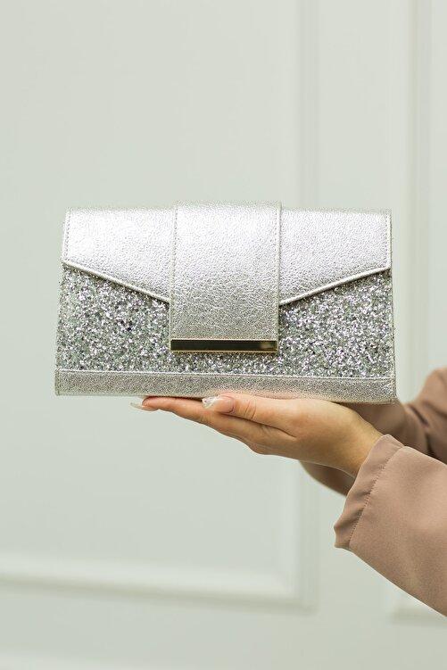 weem bag Gümüş Kristal Portföy Çanta 2