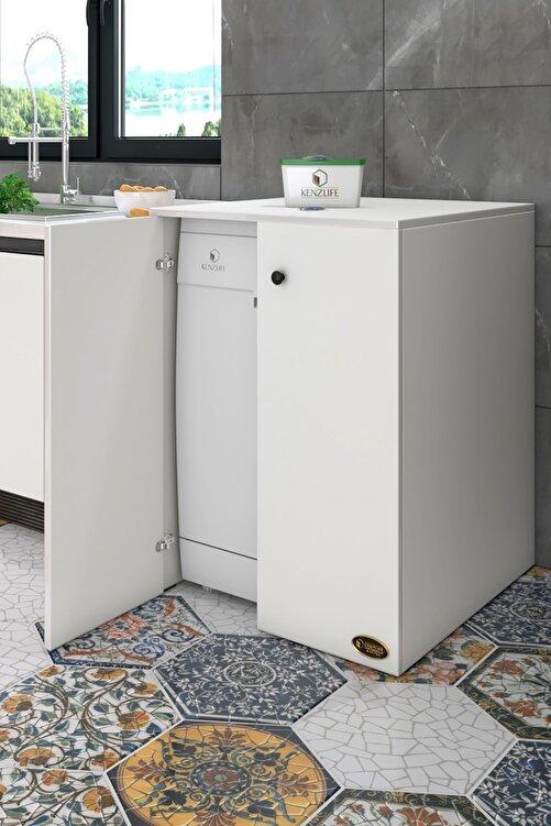 Kenzlife Bulaşık Makinesi Dolabı Kapaklı Nurten Byz 90*70*60 Banyo Ofis 1