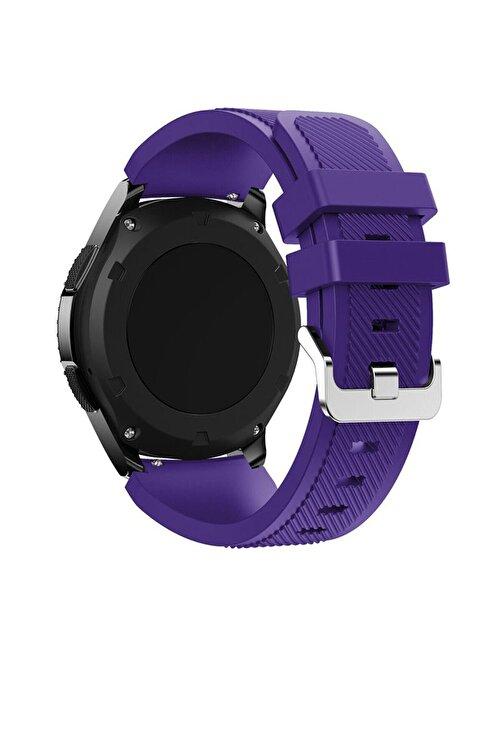 TahTicMer Huawei Watch Gt2 46mm Sport Kordon Silikon Mor 1